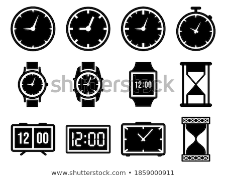 Time Duration Black Vector Button Icon Design Set Stock photo © rizwanali3d