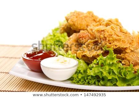 куриные жареный меда продовольствие обеда красный Сток-фото © 1986design