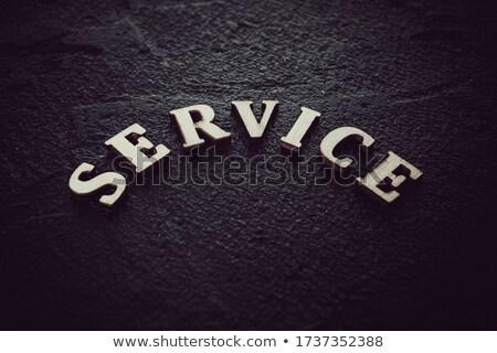 Stock fotó: Szolgáltatás · szó · földgömb · absztrakt · terv · technológia