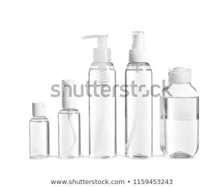 Diferente plástico cosméticos botellas aislado blanco Foto stock © shutswis