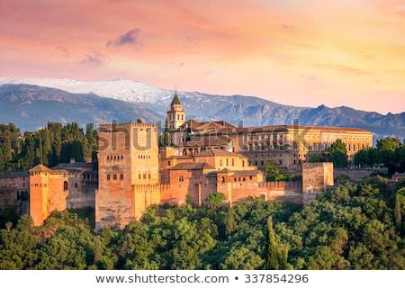 ver · alhambra · Espanha · rio · céu · edifício - foto stock © fisfra