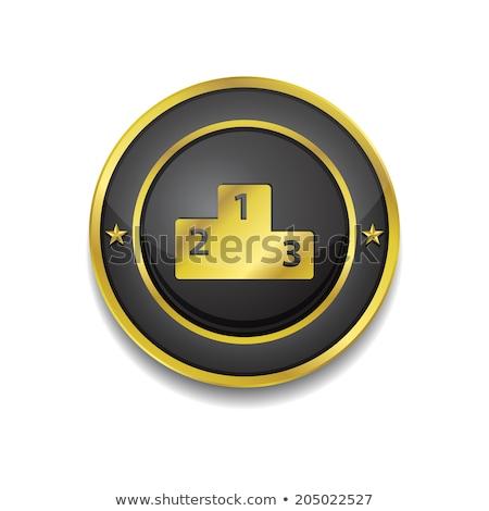 Pontszám tábla körkörös vektor arany webes ikon Stock fotó © rizwanali3d
