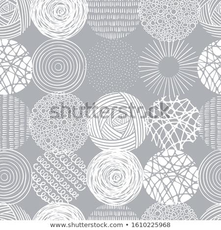 Sketch circles seamless pattern Stock photo © netkov1