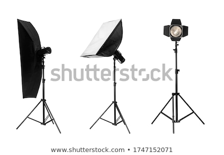 Stúdió villanás izolált fehér fény technológia Stock fotó © giko