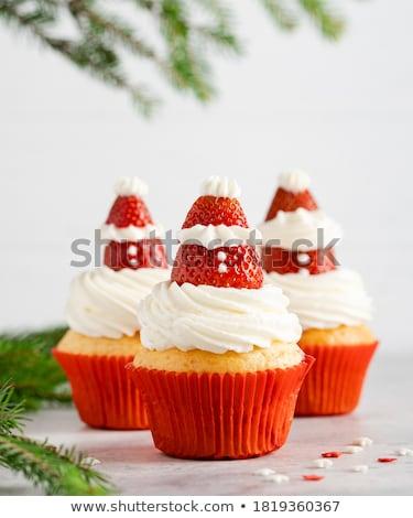 christmas cupcakes stock photo © adrenalina
