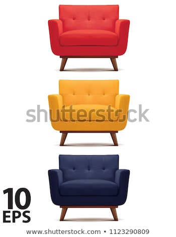 red armchair furniture vector illustration stock photo © konturvid