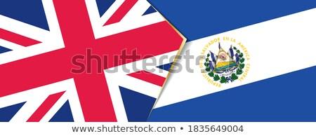 Royaume-Uni El Salvador drapeaux puzzle isolé blanche Photo stock © Istanbul2009