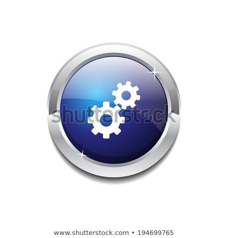 колесо синий вектора икона кнопки интернет Сток-фото © rizwanali3d