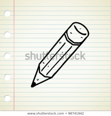 doodle · potlood · icon · Blauw · pen - stockfoto © pakete
