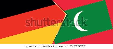 Alemania Maldivas banderas rompecabezas aislado blanco Foto stock © Istanbul2009
