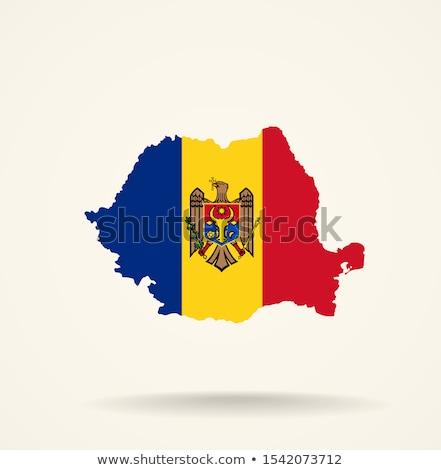 Foto stock: Canadá · Moldávia · bandeiras · quebra-cabeça · isolado · branco