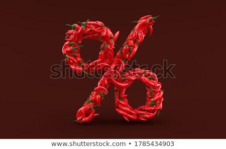 Boglya piros forró chilipaprika izolált fehér Stock fotó © vapi
