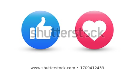 Smartphone with Love Heart Sign Circle Icon Stock photo © Anna_leni