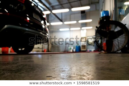 Photo stock: Dirty Car In Garage