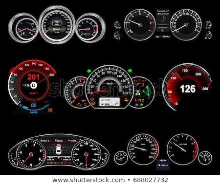 Araba hızölçer panel kontrol paneli arayüz ışık Stok fotoğraf © romvo