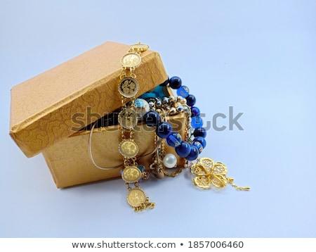 Diament biały żółty złota moda naszyjnik Zdjęcia stock © fruitcocktail