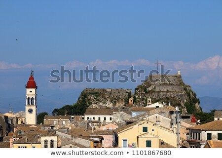 corfu town cityscape summer season stock photo © goce