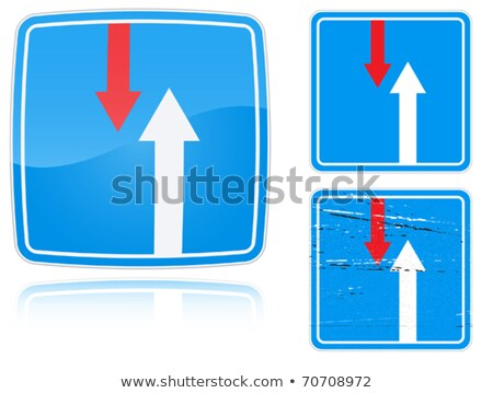 Variants advantage over oncoming traffic road sign Stock photo © boroda