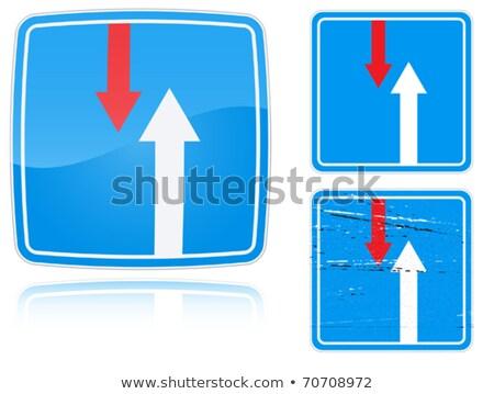 Ventaja tráfico senalización de la carretera establecer aislado Foto stock © boroda