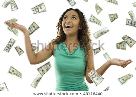 женщину деньги падение небе бизнеса успех Сток-фото © kentoh
