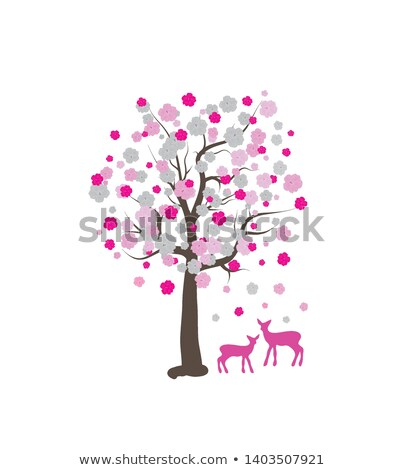 A deer under the tree Stock photo © bluering