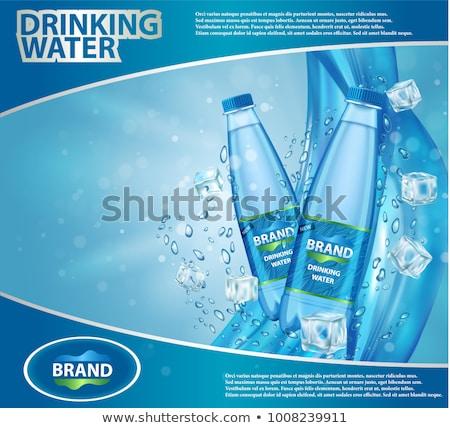 Mineraalwater ijs glas donkere achtergrond Stockfoto © cosma