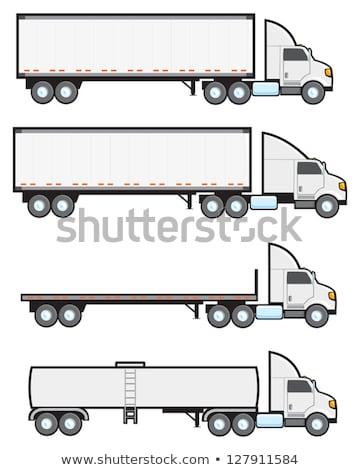 Four types of trucks Stock photo © bluering