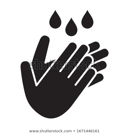 красочный · человеческая · рука · круга · люди · рук · икона - Сток-фото © bluering