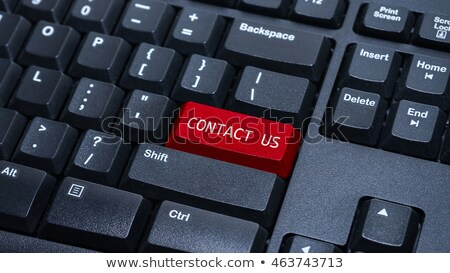 Red contact button Stock photo © Oakozhan
