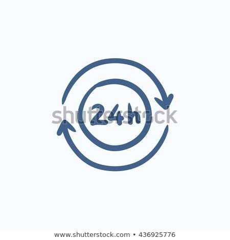 Service 24 hrs sketch icon. Stock photo © RAStudio