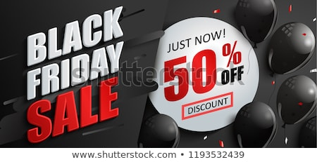 black balloon percent black friday price sticker stock photo © limbi007