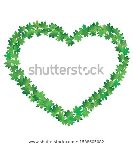 geschilderd · hart · houten · hek · abstract · liefde - stockfoto © beholdereye