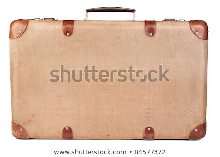 ビジネスマン スーツケース 白 背景 を実行して 黒 ストックフォト © janssenkruseproducti