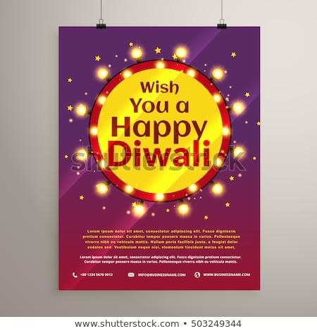 diwali · festival · illustrazione · donna · mani · divertente - foto d'archivio © sarts
