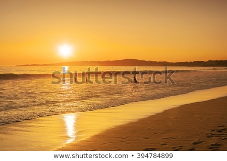 sunset on lanzada beachspain stock photo © capturelight