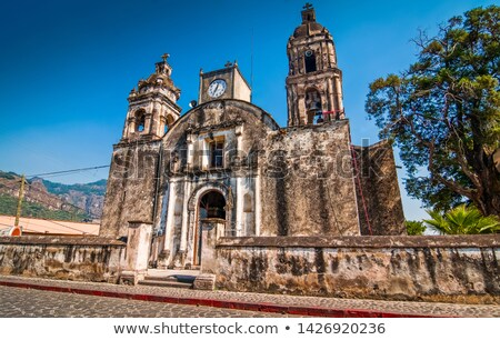 Панорама мнение небольшой деревне мексиканских Сток-фото © photosil