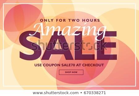 Zdumiewający sprzedaży banner zniżka talon szablon Zdjęcia stock © SArts