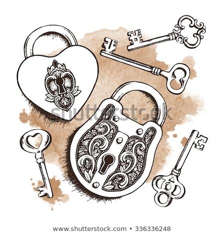 Vintage красочный сердце расплывчатый символ Сток-фото © Yatsenko