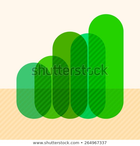 Infographics with rising green overlapping bars Stock photo © SwillSkill