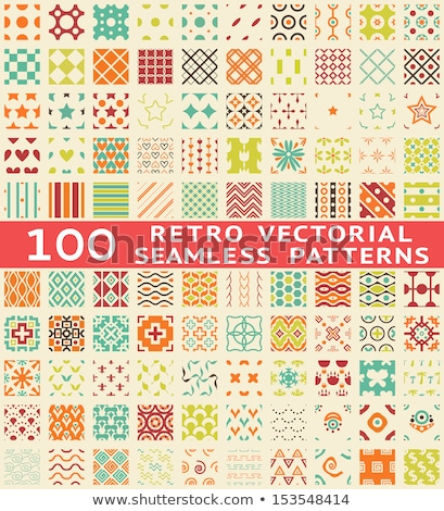 Vector set of different retro seamless patterns in color Stock photo © blue-pen