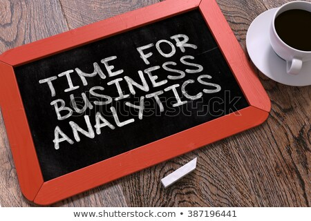Hand Drawn Analytics Concept on Small Chalkboard. Stock photo © tashatuvango