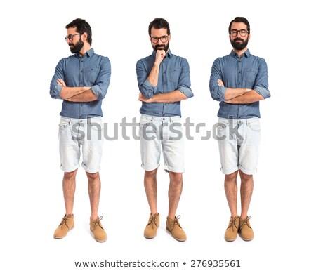 hipster man set stock photo © studiostoks