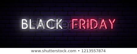 черная пятница текста красный неоновых свет лампы Сток-фото © romvo