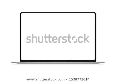 Közösségi háló laptop modern munkahely közelkép leszállás Stock fotó © tashatuvango