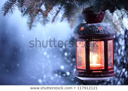 Czerwone światło ciemne śniegu czerwony świetle Zdjęcia stock © romvo