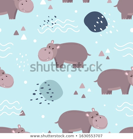 hippos in the water Stock photo © OleksandrO