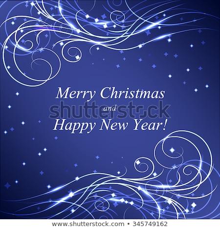 Abstrakten künstlerischen kreative blau Neujahr Text Stock foto © pathakdesigner