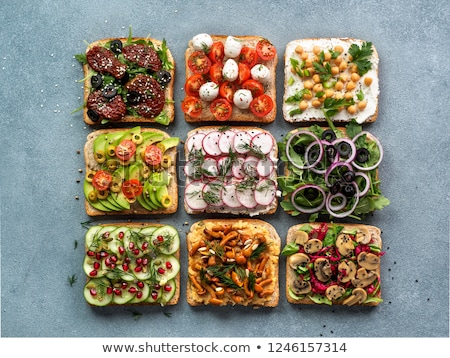 heerlijk · veganistisch · vegetarisch · hamburger · gegrild · aubergine - stockfoto © yuliyagontar