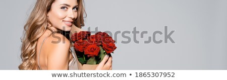 горизонтальный Баннеры ювелирные роз три красный Сток-фото © blackmoon979