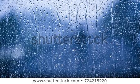 дождливый окна темно облака текста сердцах Сток-фото © romvo